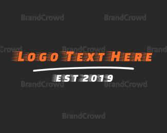Move - Fast Racing Font logo design