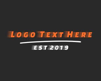 Transfer - Fast Racing Font logo design