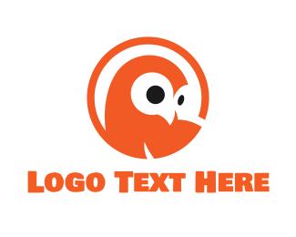 Teacher - Orange Owl logo design