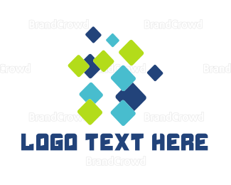 Bitmap - Flying Pixels logo design
