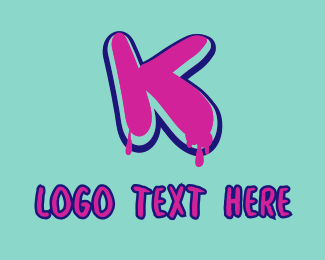 Vivid - Paint Graffiti Letter K logo design