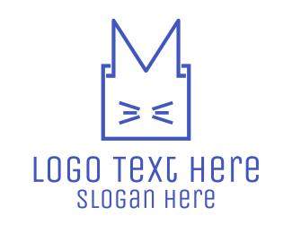 Asia - Cat Box Animal logo design