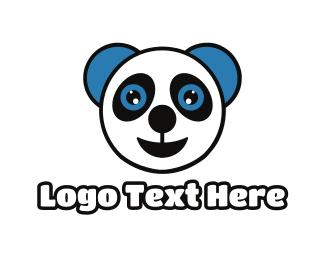 Baby Supplies - Happy Baby Panda logo design