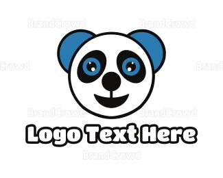 Teddy - Happy Baby Panda logo design