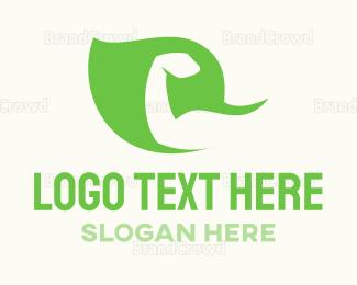 Protein Shake - Strong Leaf logo design