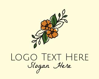 Flower Boutique - Flower Arranger Line Art logo design