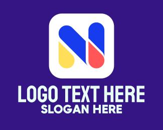 Kids Vlog - Nursery Letter N logo design