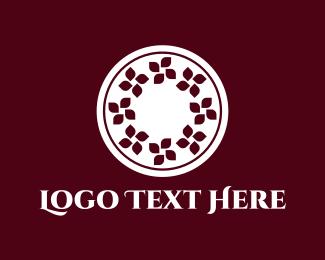 Banquet - Floral Circle logo design