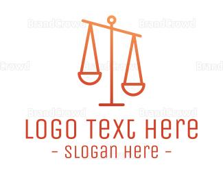Lawyer - Gradient Justice logo design