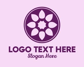 Vintage - Circle Flower Ornate logo design