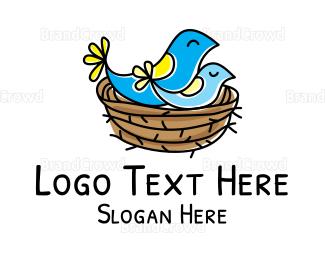 Small - Birds Nest logo design