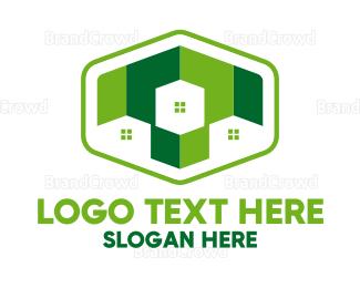 Neighborhood - Green Household  logo design