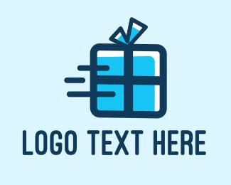 Shopify - Fast Gift logo design