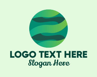 Earth - Abstract Eco Earth  logo design