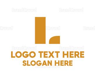 Lettermark - Golden Lettermark logo design