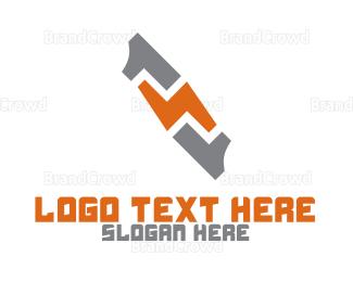 Eletrician - Flash Number 11 logo design