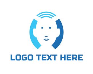 Wifi - Wifi Person  logo design