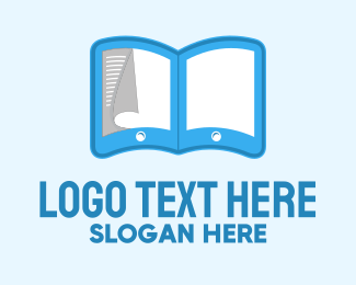 Dictionary - Ebook Tablet logo design