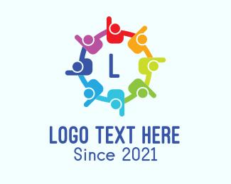Crowdfund - Colorful Community Letter logo design