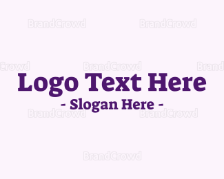 Kids - Purple Serif Text logo design