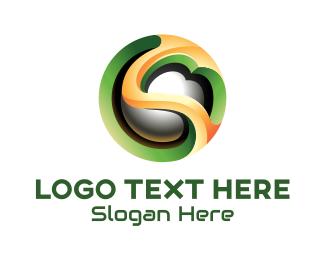 3d Style - 3D Futuristic Sphere logo design