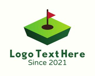 Golf Course - 3D Golf Course logo design