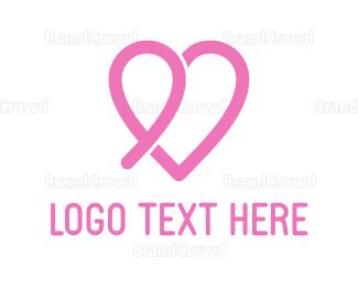 Dating - Pink Heart logo design