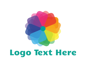 Petal - Rainbow Flower logo design