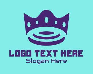 Space Craft - Purple Futuristic Crown logo design
