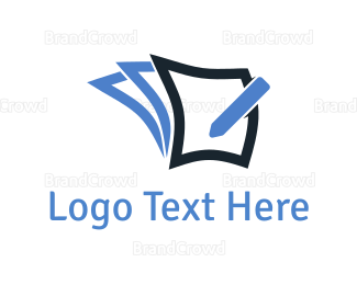 Color Pencil - Pencil & Notes logo design