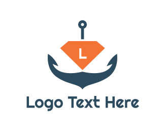 Coast Guard - Diamond Anchor Lettermark  logo design