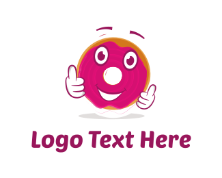 Biscuit - Donut Cartoon logo design