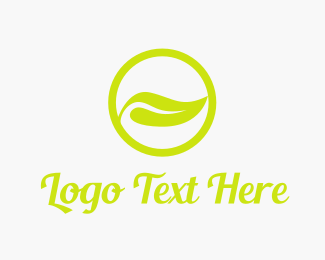 Tea - Nature Leaf Circle logo design