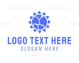University - Puzzle Flower logo design