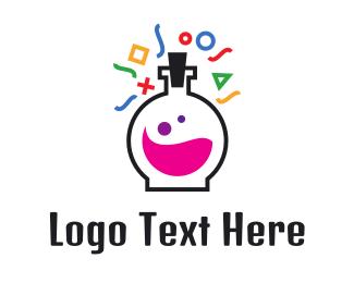 Playstation - Test Tube Lab Gaming  logo design