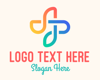 Treble Clef - Colorful Flower Note logo design
