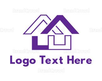 Code - Purple House Code logo design