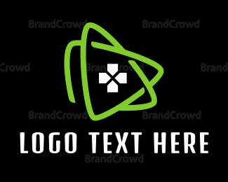 Swoosh - Green Triangle Gaming logo design