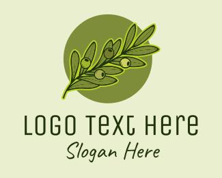 Produce - Organic Olive Fruit logo design