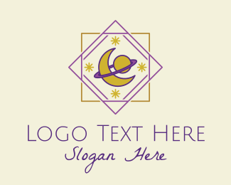 Mystic - Mystic Planet Moon logo design