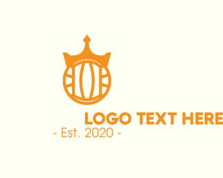 Waterpolo - Golden Water Polo Crown logo design