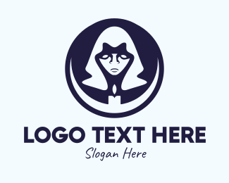 Mysterious - Black Mage Candle logo design