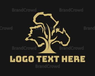 Cross Country - France Africa Australia Tree logo design