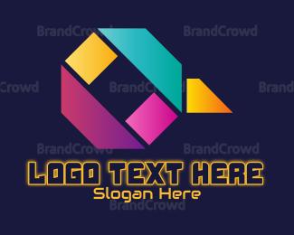 Language - Abstract Letter Q logo design