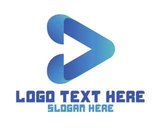 Play - Blue Modern Play logo design