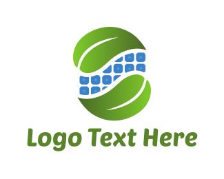 Solar Panel - Leaf Duo logo design