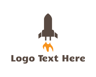Spacecraft - Rocket Battery logo design