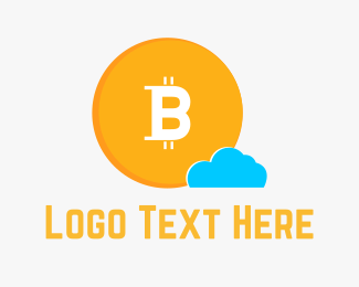 Bit - Bitcoin Cloud logo design