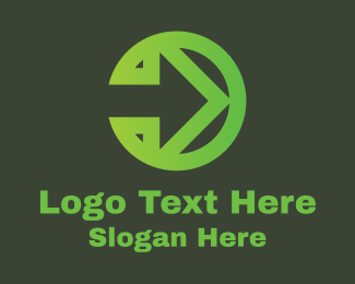Traffic Sign - Green Arrow Right logo design