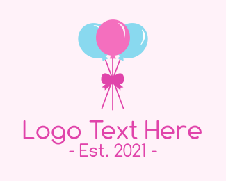 Party Supplies - Party Ribbon Balloons logo design
